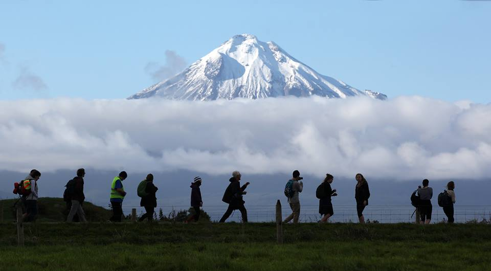 Photo of Taranaki with Peace walkers